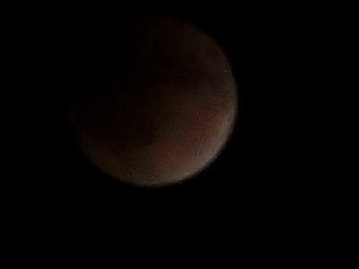 10時半くらいの月食