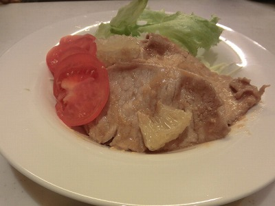 ぶーちゃんの文旦生姜焼き