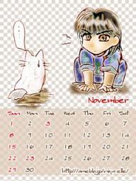 11月カレンダー240*320