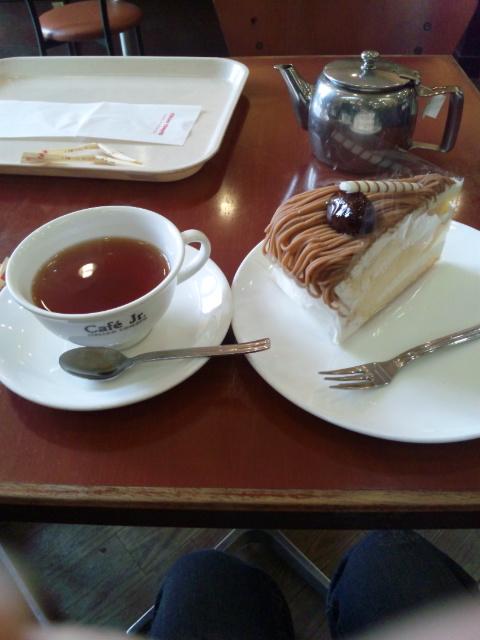モンブラン&紅茶