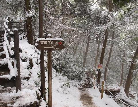 雪の登山道 001