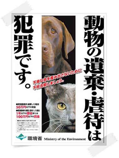 動物の遺棄・虐待は犯罪です