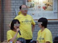 7/24 東商店会会場のアナウンススタッフ