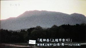 心旅1片田地区の田圃と尾神岳