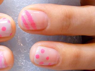 ピンク水縞2