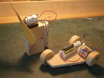 モーターは 誰でも 電池をつなげば すぐ回る。