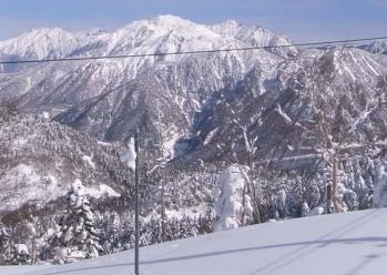 穂高岳と焼岳
