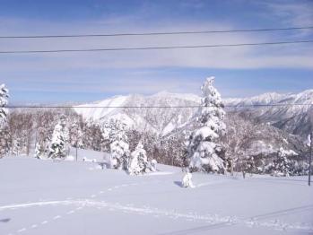 輝山と笠ヶ岳