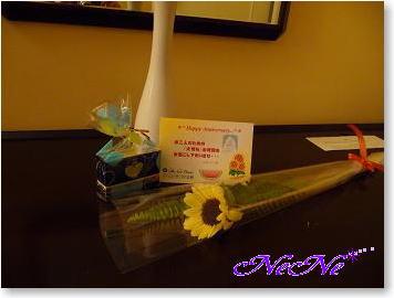 ホテルニューオータニ長岡のウェルカムの花