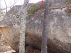 瑞牆皇ボルダー皇帝岩「エンペラーモス」三段