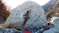 早川「道場すぐ下流の岩」