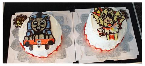 4歳誕生日ケーキ2つ