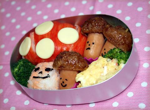 きのこ弁当2