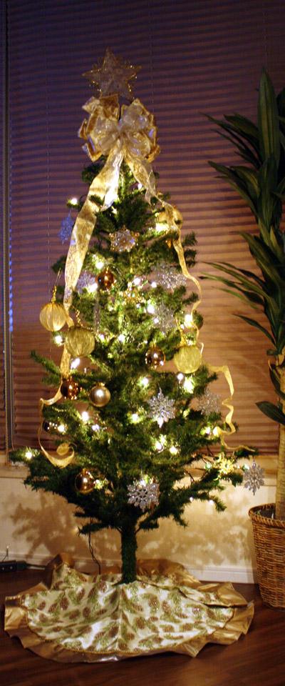 クリスマスツリー夜