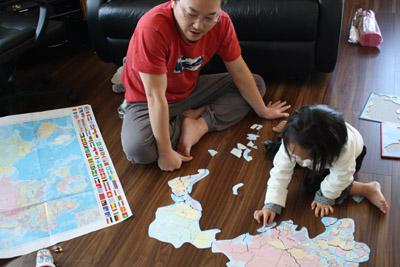 パパと世界パズル