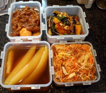 四国に持って行く料理