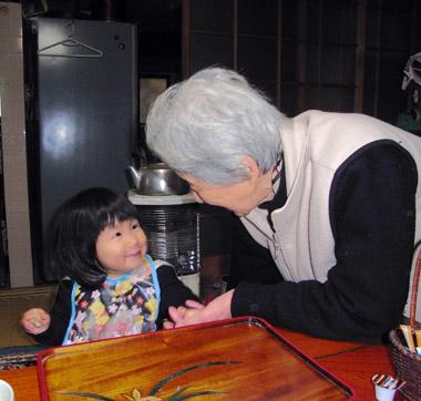 ひーおばあちゃんとかえ