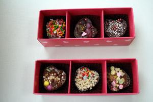 香慧ちゃんが作ったチョコレート