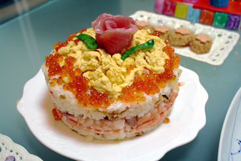 海鮮ちらし寿司ケーキ