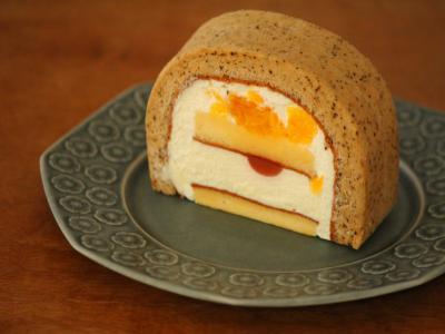 八朔と紅茶ロールケーキ