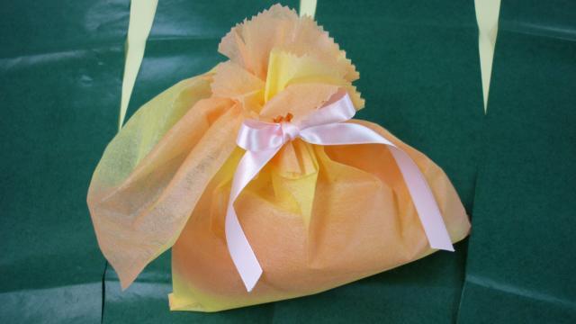 不織布の袋のアレンジ