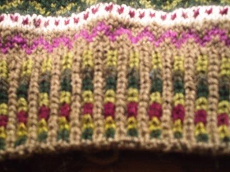 裾のゴム編み