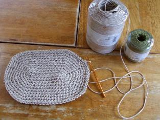 麻糸 底編み始め