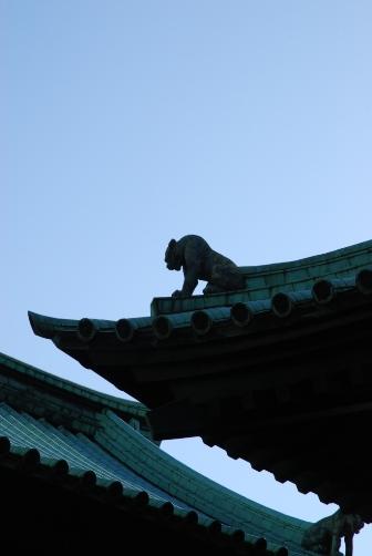 湯島聖堂の屋根