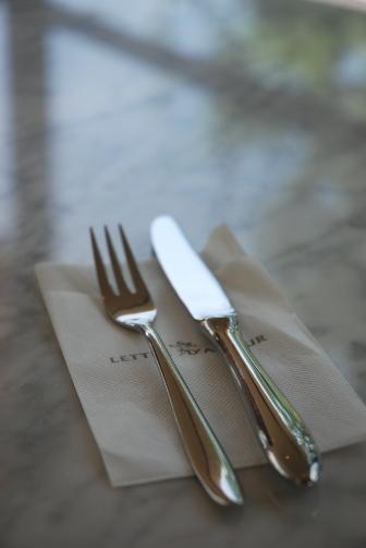 テーブルの緑