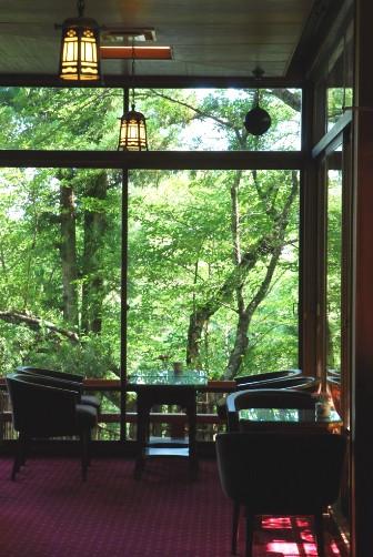 奈良ホテル・ティーラウンジ・緑の窓