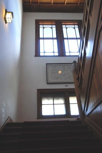 奈良ホテル・本館階段踊り場