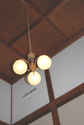 奈良ホテル・客室天井