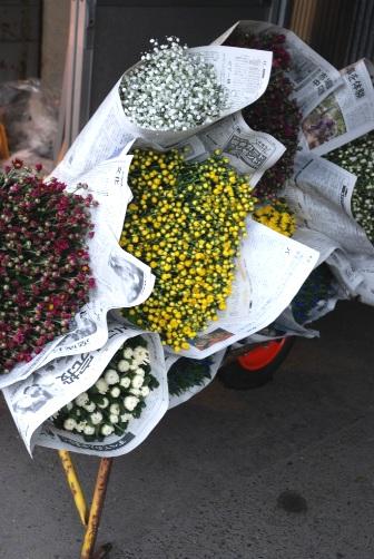 朝市の花束
