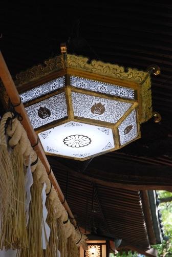 調神社 拝殿照明