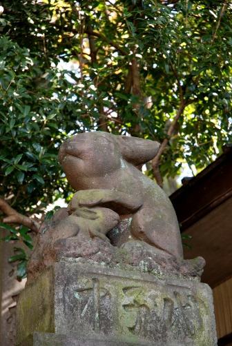 調神社 吽狛うさぎ