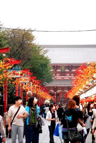 2010浅草寺の紅葉
