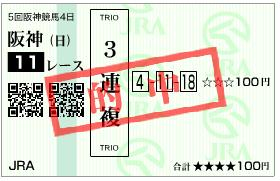 阪神JF3連複