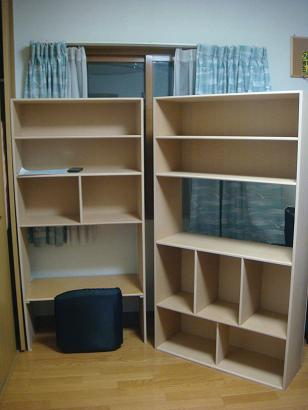 夫のお手製次男の本棚