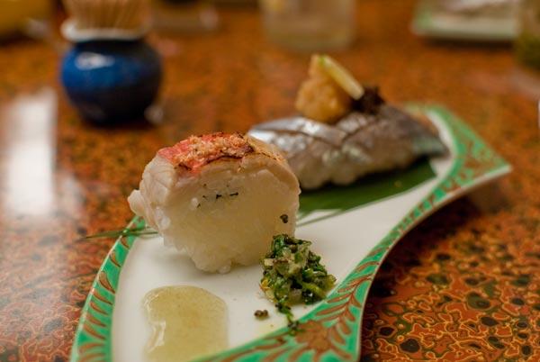 金目炙り棒寿司