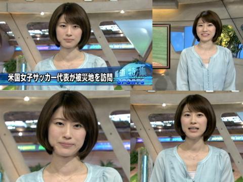 岡村仁美 米女子サッカー被災地を訪問