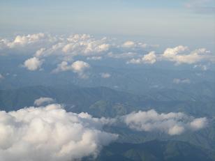 飛行機から1