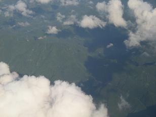 飛行機から2