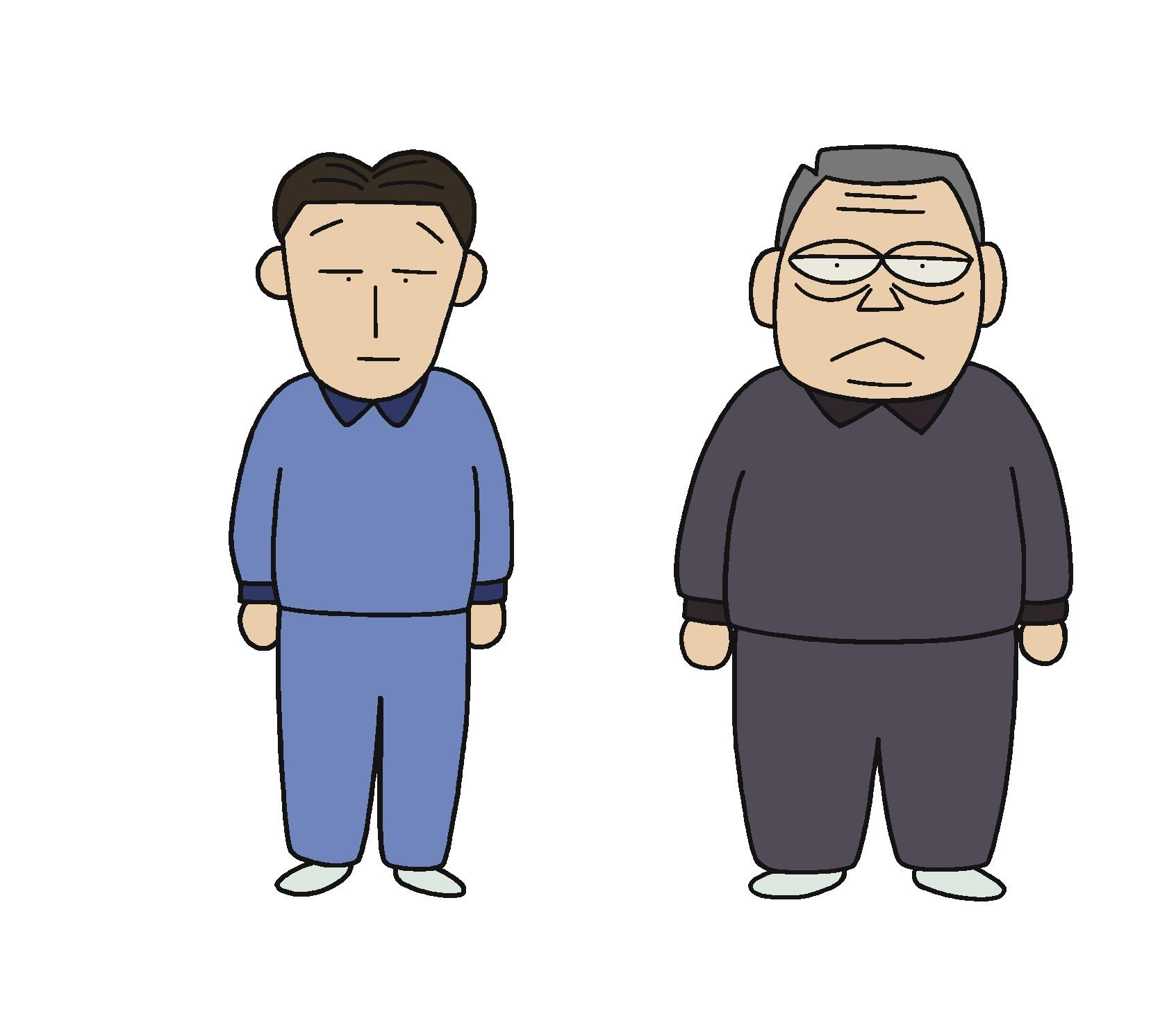 小沢、石川ジャージ
