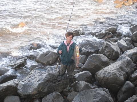 鮭釣り ウキルアーでの鮭釣り2