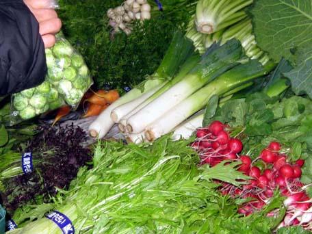 レンバイの野菜