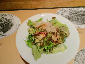 2011.08.05サクラ海老とかつお節のサラダ