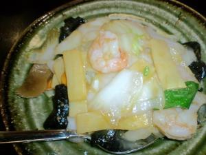 白菜と海老の炒めもの