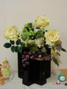 サロンエントランス初秋の花