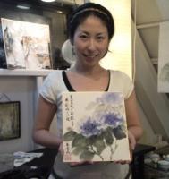 201106 墨彩 紫陽花