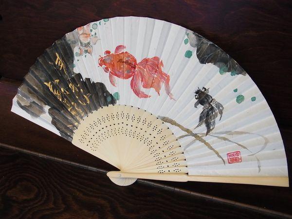 201109 水墨 金魚 扇子
